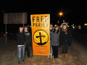 Faith United youth were excited to go out with us and learn to do Free Prayer