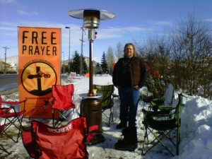 Even with knee-high snow at the Sundance Film Festival, we got to pray with international journalists and even a film crew
